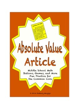 Common Core Math Article - The Absolute Truth About Absolute Value