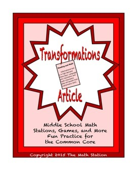 Common Core Math Article - Transformations