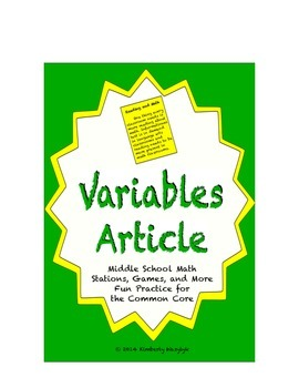 Common Core Math Article - Variables: Dependent or Independent?