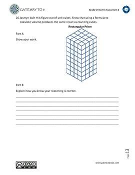 Common Core Math Assessment (2) Grade 5