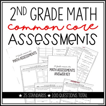 Common Core Math Assessment 2nd Grade
