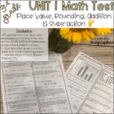 Place Value, Rounding, Addition & Subtraction Test (Unit 1 Test)