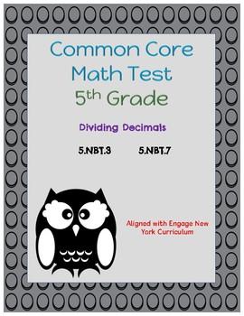 Common Core Math Assessment - 5th Grade (Module 1 Topic F)