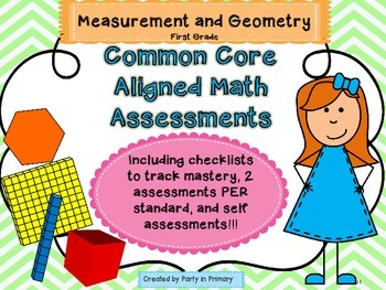 Common Core Math Assessment (First Grade MD and G)