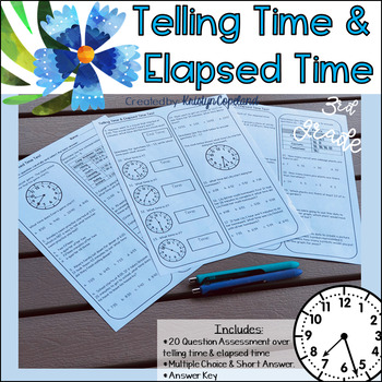 Time/Elapsed Time 3MD.1 Common Core Math Assessment