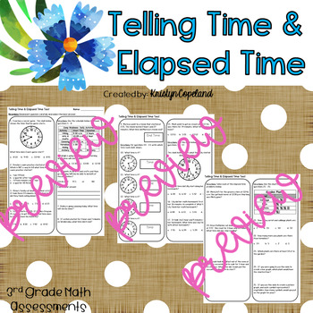 Telling Time & Elapsed Time Test