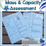 Mass & Capacity 3MD.2 Common Core Math Assessment