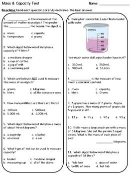 Mass & Capacity Test