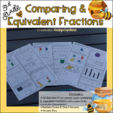 Comparing & Equivalent Fractions Test {with models or like numbers}