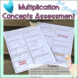 Multiplication Concepts OA1. & 3 Common Core Math Assessment