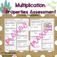 Common Core Math Assessment Grade 3 OA5 Multiplication Properties (Unit 3)
