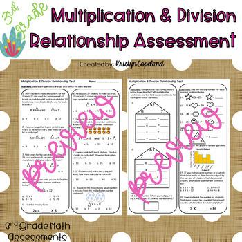 Algebra: Missing Numbers OA.6 & 7 Common Core Math Assessment