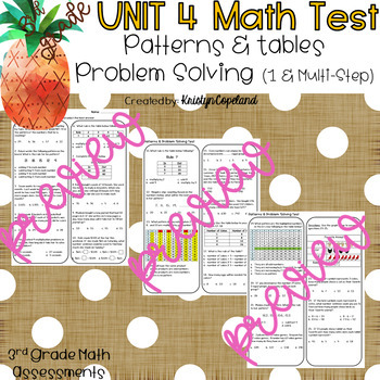 Patterns and Problem Solving OA8-9 Common Core Math Assessment