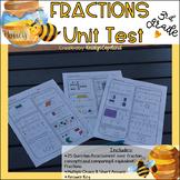 Common Core Math Assessment Grade 3 Unit 6 Assessment (Fractions)