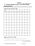 Common Core Math Assessment- K (EOY)/1st Grade (BOY)