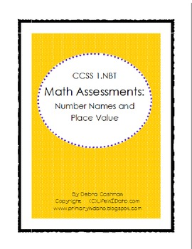 Common Core Math Assessment: Number Names and Place Value