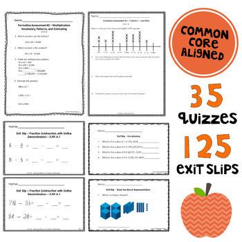 Math Assessment Pack BUNDLE - Common Core Aligned