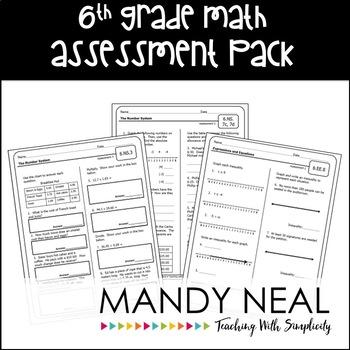 Common Core Math Assessment Pack-Grade 6