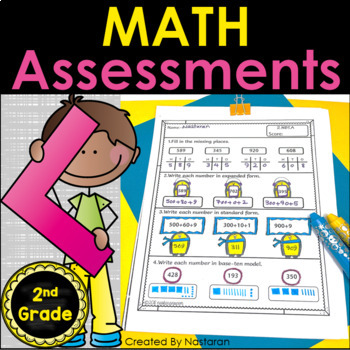 Math Assessments For Second Grade Standard :Common Core Aligned
