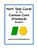 Common Core Math Assessment Task Cards:  Grade K