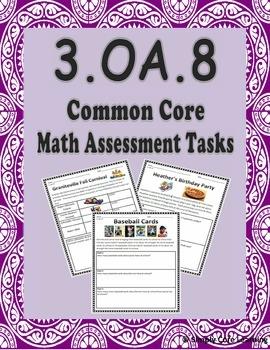 3.OA.8 Common Core Math Assessment Tasks