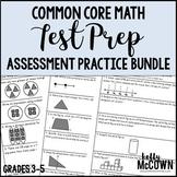 Common Core Math Assessment Test Prep Practice BUNDLE - Grades 3 to 5