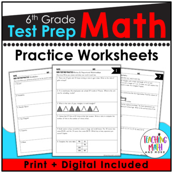 Common Core Math Assessment Test Prep Practice - Grade 6