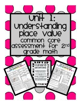 Common Core Math Assessment Unit 1: 2nd Grade Understanding Place Value