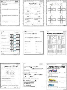 Common Core Math Assessments- 1st Grade - April