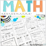 Common Core Math Assessments- 1st Grade - February