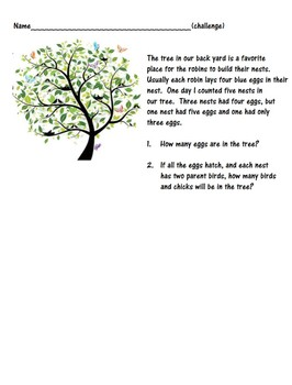 Common Core Math Assessments 1st and 2nd grades