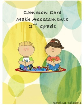 Common Core Math Assessments Pack 2nd Grade