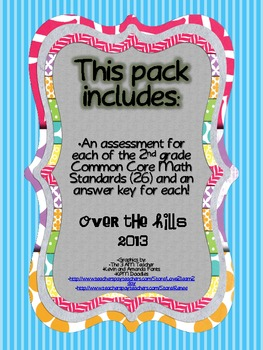 Common Core Math Assessments {2nd Grade--All Standards}