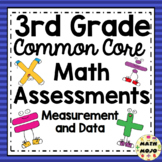 3rd Grade Math Assessments: Common Core Measurement and Data
