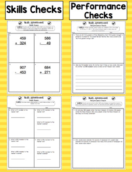 Common Core Math Assessments - 3rd Grade Number and Operations in Base Ten