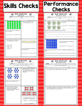 Common Core Math Assessments - 3rd Grade Operations and Algebraic Thinking