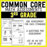 Common Core Math Assessments - 3rd Grade