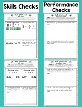 Common Core Math Assessments - 4th Grade Number and Operations - Fractions