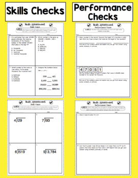 Common Core Math Assessments - 4th Grade Number and Operations in Base Ten