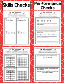 5th Grade Math Assessments: Common Core Operations and Algebraic Thinking