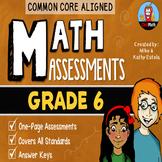 Common Core Math Assessments {6th Grade}