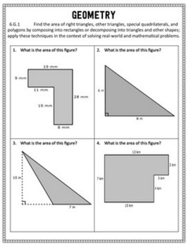Common Core Math Assessments - 6th Grade