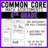 Common Core Math Assessments - 6th Grade