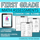 Math Assessments for First Grade (PDF & Digital) | Distanc