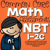First Grade Common Core Math Assessments NBT (1.NBT.1, 1.NBT.2a,b,c)