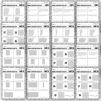 First Grade Common Core Math Assessments NBT (1.NBT.1, 1.NBT.2a,b,c)