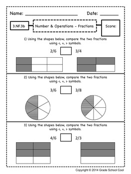 Common Core Math Assessments Grade 3 (ALL STANDARDS PACK)