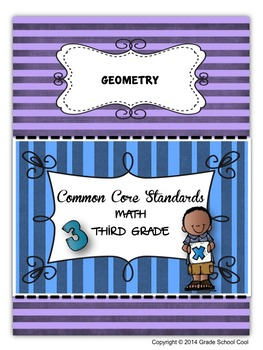 Common Core Math Assessments Grade 3 (Geometry)