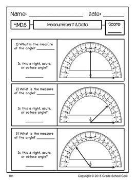 Common Core Math Assessments Grade 4 (ALL STANDARDS PACK)
