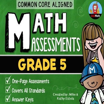 Common Core Math Assessments {5th Grade}